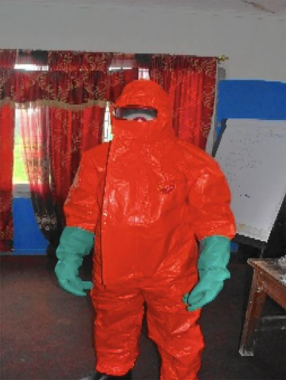 This is the personal protection equipment health workers in Liberia received at the end of August to wear when dealing with suspected cases of ebola.