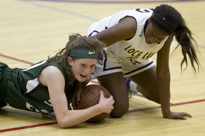 Loch Raven's Jayla Ragsdale, right, is one of a number of veterans returning for the Raiders.
