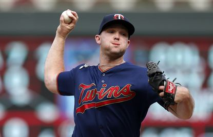 Minnesota Twins pitcher Kohl Stewart against the Oakland Athletics in the ninth inning of a baseball game Sunday, July 21, 2019, in Minneapolis. (AP Photo/Jim Mone)