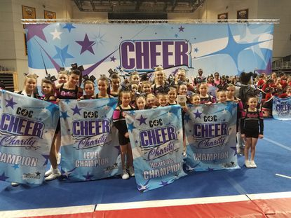 Members of West Carroll Cheer performed at a Cheer for Charity event in support of Casey Cares in January. The group is now raising funds to help secure a practice facility.