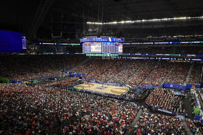 Virginia and Texas Tech play in the championship game of the NCAA college basketball tournament at U.S. Bank Stadium in Minneapolis, April 8, 2019. The grandest annual exhibition in college sports, the NCAA men's and women's Division I basketball tournaments, will be played without spectators as the United States grapples with the deadly spread of the coronavirus.