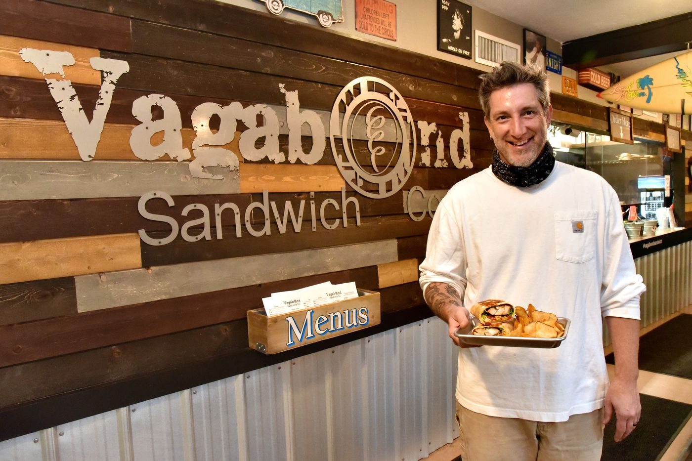 Ben Meyer, owner of the Vagabond Sandwich Company on Thomas Street in downtown Bel Air.