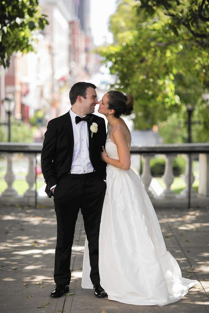Lauren Waldholtz and Gregory Martin got married at the George Peabody Library in Mount Vernon.
