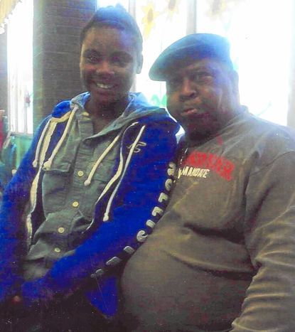 Crystal Moulden, 16, of Glen Burnie, with her father Gilbert Moulden. The teen died of what family members said was an overdose of the drug fentanyl, a synthetic opioid commonly mixed with heroin, two weeks ago in Baltimore.