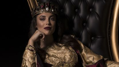 Amy Parochetti as Queen Dona Maria Isabella, billed as the first female ruler at Medieval Times.