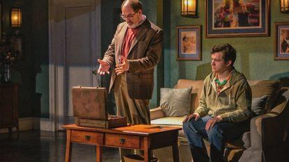 "Bruce Randolph Nelson, left, as Richard and Elliott Kashner as Craig in ""The Book of Joseph"" at Everyman Theatre."