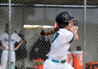 Patterson Mill's Madison Knight, shown from a previous game, belted a home run and scored the game-winning run for the Huskies on Wednesday.