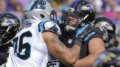 Ravens rookie left tackle James Hurst.