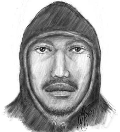 Baltimore police released this composite sketch of a suspect in an alleged sexual assault last week in the Baltimore Highlands neighborhood in Southeast Baltimore.