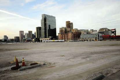 The site of the old Allied Chemical plant, between Harbor East and Fells Point, will be the site of the new Exelon Headquarters. The work is slated to begin next year.