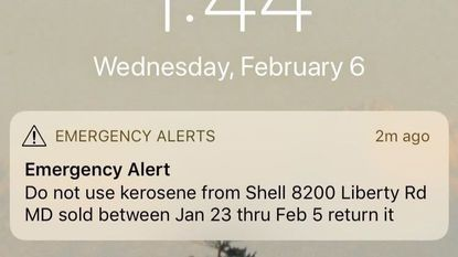 Kerosene sold at Liberty Road convenience store contaminated with gasoline, creating fire risk, officials say