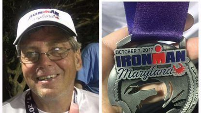 Fallston's Dwight Griffith is an Ironman, finishing the 140-mile race nearly 18 hours after he started.