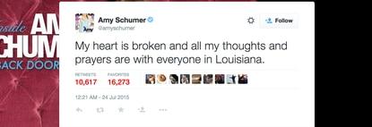 Amy Schumer's heart broken over theater shooting