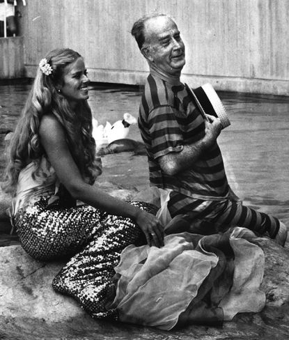 """The iconic scene of Mayor William Donald Schaefer in the National Aquarium seal pool is part of """"Do It Now,"""" the new Schaefer musical."""