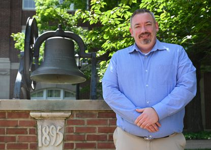 Douglas Starliper, a member of McDaniel's Class of 2021 who will be receiving his Bachelor of Social Work, is seen on the university campus on Thursday, May 20, 2021.