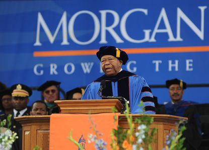 Rep. Elijah Cummings gives the commencement address at Morgan State University.