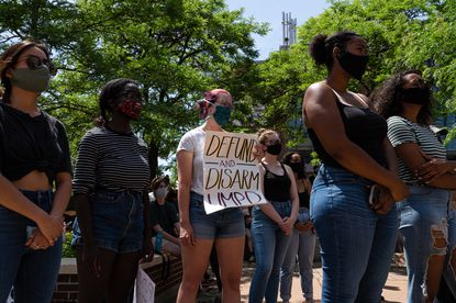 "Students at the University of Minnesota during a protest on campus in Minneapolis on June 7, 2020. When a majority of City Council members promised to ""end policing as we know it"" after George Floyd's killing, they became a case study in how idealistic calls for structural change can falter."