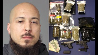 Landon Cornelius Johnson, 29, of Laurel, was charged Wednesday with drug and handgun related offenses after police said they discovered 1,119 grams of marijuana, a digital scale, $780, two handguns and ammo.