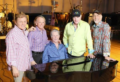 """The Beach Boys perform at <a href=""""http://findlocal.baltimoresun.com/listings/merriweather-post-pavilion-columbia"""">Merriweather Post Pavilion</a>."""