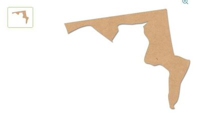 """A screengrab of the wooden craft item """"MD Shape"""" from Walmart.com."""
