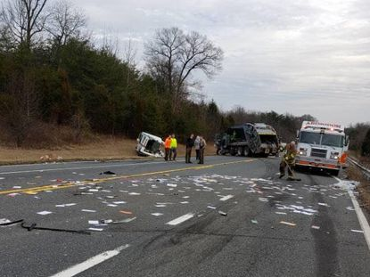 Maryland State Police are investigating a multi-vehicle crash Wednesday on Route 152 in Joppa that sent two people to area hospitals with injuries.