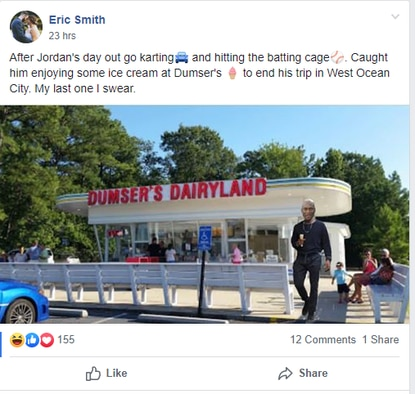 A post that appeared in Facebook's Ocean City Cool group during the White Marlin Open this week.