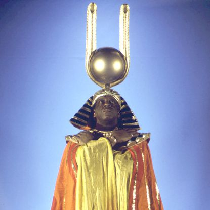 Sun Ra made the brilliant move of linking ancient Egypt with the space age, claiming he had been educated on Saturn.