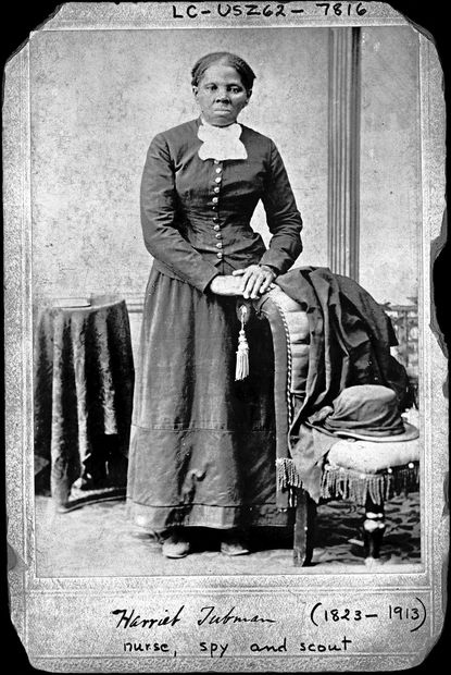 Harriet Tubman stood for this portrait by H. B. Lindsley sometime between 1860 and 1875.