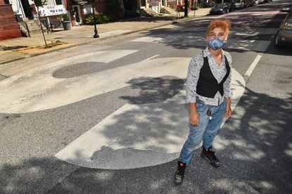 Jamie Grace Alexander, an activist and street artist, created a street mural on N. Charles Street which reads: BLACK TRANS LIVES MATTER. A large group of volunteers executed the mural design, which stretches from 22nd to 23rd Street.