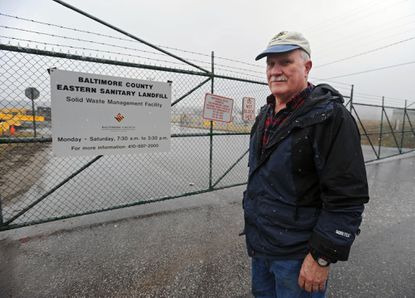 Baltimore County residents like Richard Murray who live near the Eastern Sanitary Landfill are seeking tax breaks to make up for the lost property values.