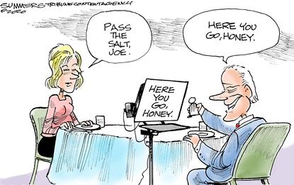 Joe Biden follows the script.