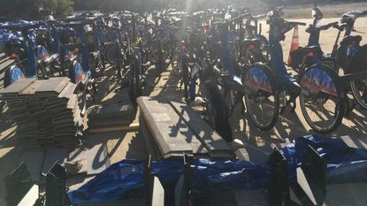 The Baltimore Bike Share bicycles and docking stations have been removed from streets and returned to the maintenance lot in Westport, where the city-owned equipment awaits a decision by city officials on what to do with it.