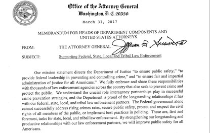 Sessions letter