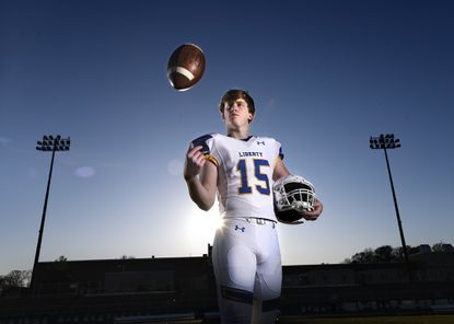 Liberty senior Nate Kent is the 2019 Carroll County Times Football Player of the Year.