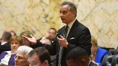 A new Maryland law requires greater transparency in disclosing millions in fees paid by the state's pension system to Wall Street investment firms. Democratic Del. Kumar Barve of Montgomery County, shown in this 2017 file photo in Annapolis, sponsored the legislation this year.