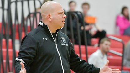 Westminster coach Brett Kanther saw his boys basketball team drop to 1-1 with Friday's loss to Thomas Johnson.