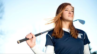 Howard senior Jackie Cherry poses for the girls golf player of they year photo at Hobbit's Glen Golf Course in Columbia on Thursday, Nov. 16, 2017.