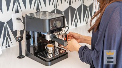 Stovetop espresso makers, sometimes called moka pots, are used worldwide as an alternative to the barista-style machines that operate with 15 to 19 bars of pressure.