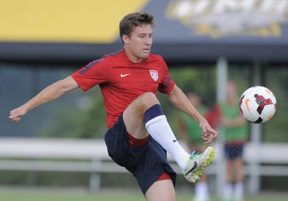 """Defender Matt Besler one of the players just added to the U.S. Gold Cup roster, practiced with the squad Thursday at UMBC. """"These guys have set the tone for this tournament, certainly,"""" Besler said. """"I've got to come in, catch up a little bit, but it shouldn't be that big an issue."""""""