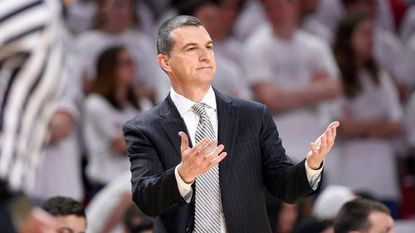 Maryland coach Mark Turgeon gestures during the first half of a game against Michigan on Saturday, Feb. 24, 2018, in College Park.