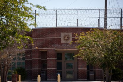 """We can't escort an inmate with a six-foot rule,"" said Yamira Richardson, a correctional officer, in March 2020, at the federal prison complex in Tallahassee, Fla. File. (Charlotte Kesl/The New York Times)"