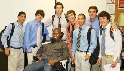 Ravens' O.J. Brigance offers faithful lift to Calvert Hall students