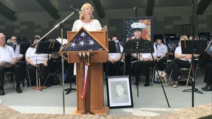 Gold Star Mother Gloria Crothers, of Conowingo, remembered her son, Sgt. Michael Heede, who was killed in Afghanistan in 2009 during Monday's Memorial Day ceremony in Bel Air.