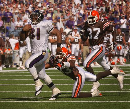 """Jamal Lewis ran for 295 yards on Sept. 14, 2003. A day later, he was asked how long that mark will stand. """"Until I break it again,"""" he said."""