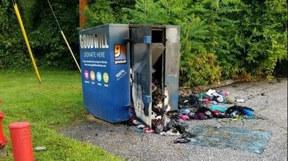 Goodwill donation container fire at Sykesville Middle is under investigation