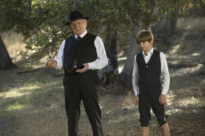 """Anthony Hopkins and Oliver Bell in Episode 6 of """"Westworld."""""""