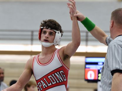 Brady Pruett won the 113-pound title at the Maryland Independent Schools state tournament at McDonogh on Saturday.