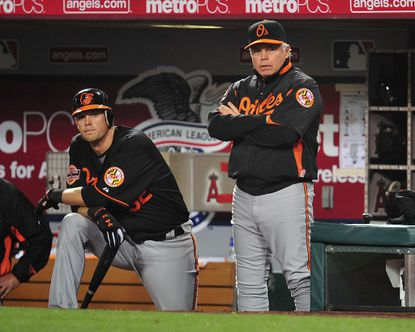 Buck Showalter says he doesn't want to see catcher Matt Wieters in any other uniform.