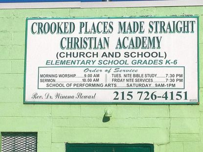 The Baltimore City Department of Social Services has sent 80 foster-care youths to the Crooked Places Made Straight Christian Academy in Philadelphia, where the majority of the Baltimore students have earned their high-school diplomas in one day.