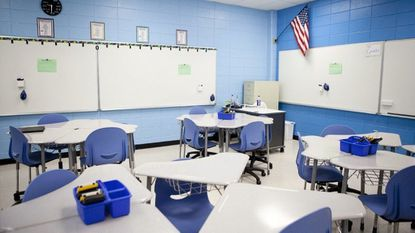 A classroom at Oakland Mills High School in Columbia.
